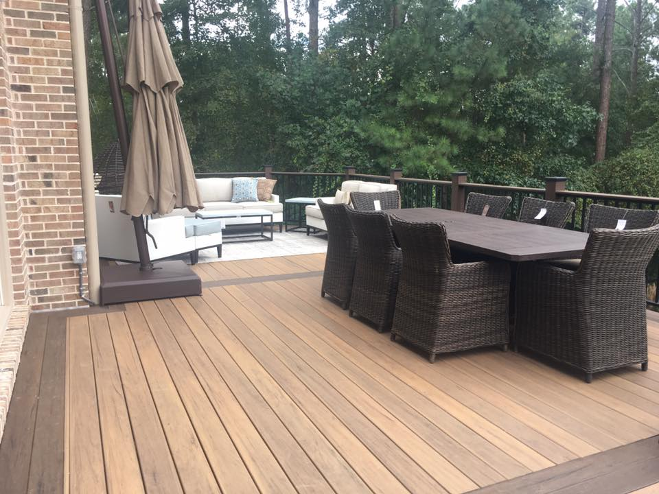 Brawner Renovations Fulton County Georgia North Fulton TimberTech Legacy Custom Deck Tiger Wood Color Outdoor Living
