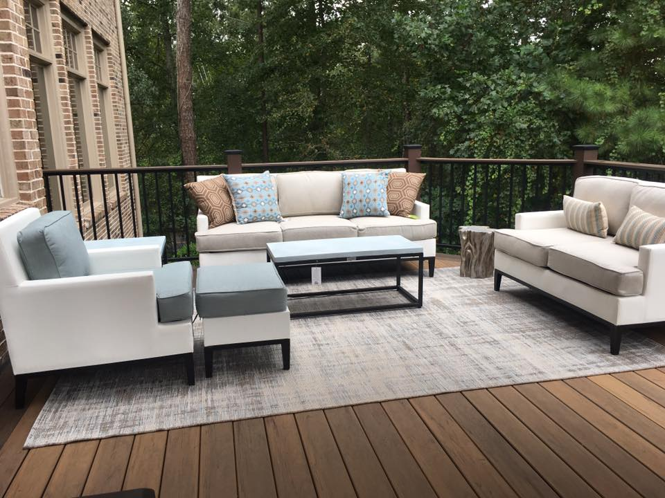 Brawner Renovations Fulton County Georgia North Fulton TimberTech Legacy Custom Deck Tiger Wood Color Deck Filled