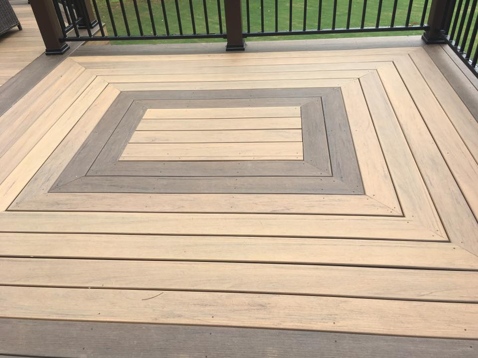 Brawner Renovations Fulton County Georgia North Fulton TimberTech Legacy Custom Deck Tiger Wood Color Design