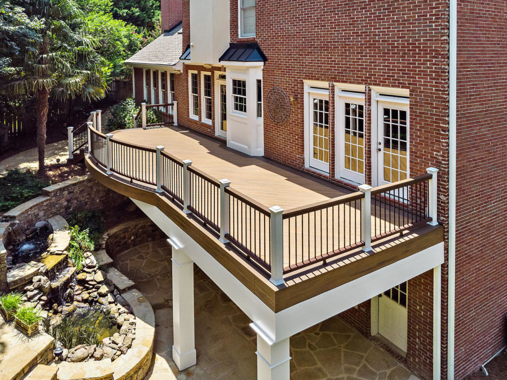 Brawner Renovations Outdoor Living Fulton County Dunwoody Georgia Deck Porch Custom Decking Trex Deck Pro Beautiful Outdoor Deck