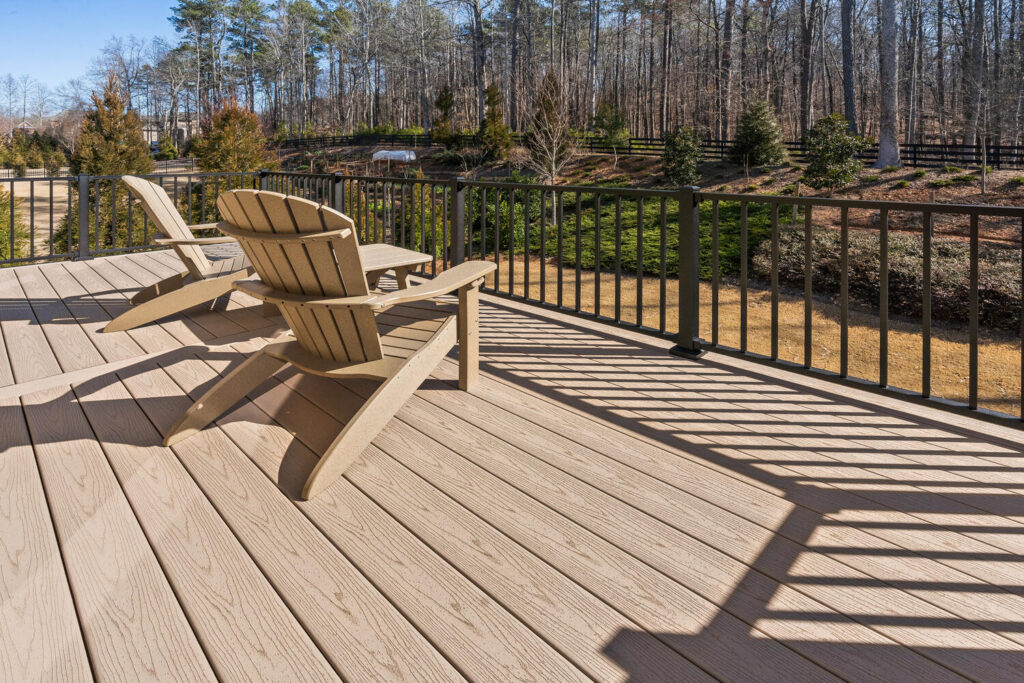 Kennesaw Custom Trex Deck, outdoor kitchen, and custom hardscapes.