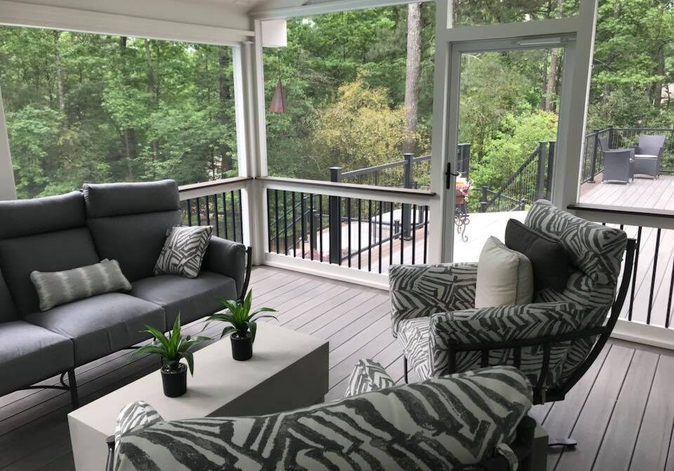 Brawner renovations Metro Atlanta Outdoor Living Screened In TrexPro Porch Product Card Image